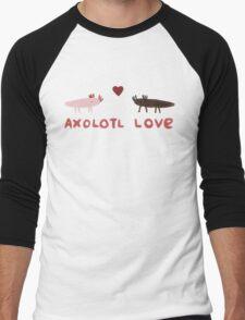 Axolotl Love Men's Baseball ¾ T-Shirt