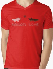 Axolotl Love Mens V-Neck T-Shirt