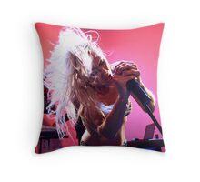 Rock Babe Throw Pillow