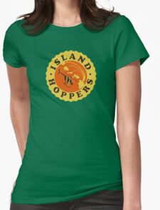 Island Hoppers /yellow Womens Fitted T-Shirt