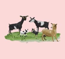 Dairy Goats One Piece - Short Sleeve
