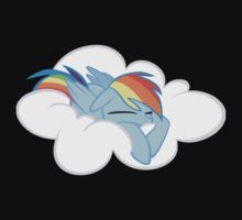 Sleeping Rainbow Dash by wafflzxpqx