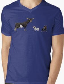 A Doe & Her Kids Mens V-Neck T-Shirt