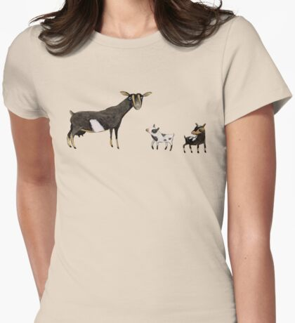A Doe & Her Kids Womens Fitted T-Shirt