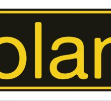 Roland Yellow Black Sticker