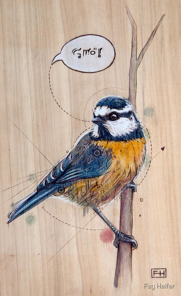 Blue Tit by Fay Helfer