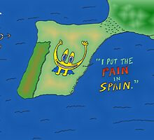 Binary options news cartoon Euroman puts the pain in Spain by Binary-Options