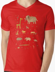 African Animals Mens V-Neck T-Shirt