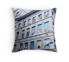 Rue Philippe de Champagne, Bruxelles, Belgium. Throw Pillow