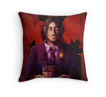 FNAF Purple Guy with bunny ears Throw Pillow