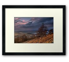 Evening View Framed Print