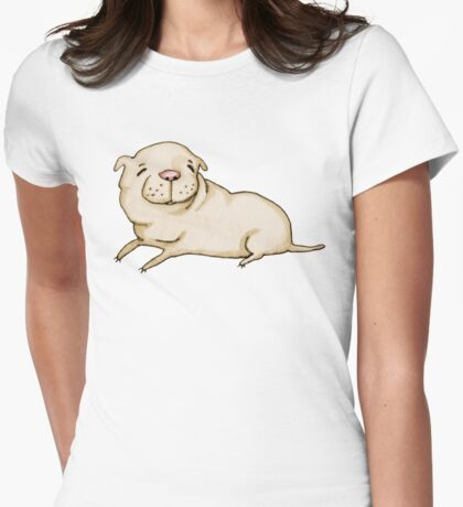 Shar Pei Womens Fitted T-Shirt