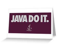 Geek Java Language Greeting Card