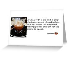 Caffeinated Poetry - Bitter sweet - Sticker Greeting Card