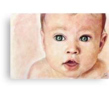 Watercolour Baby portrait painting Canvas Print