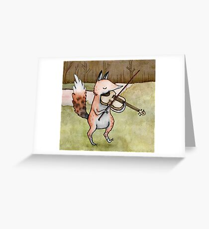 Violin Fox Greeting Card