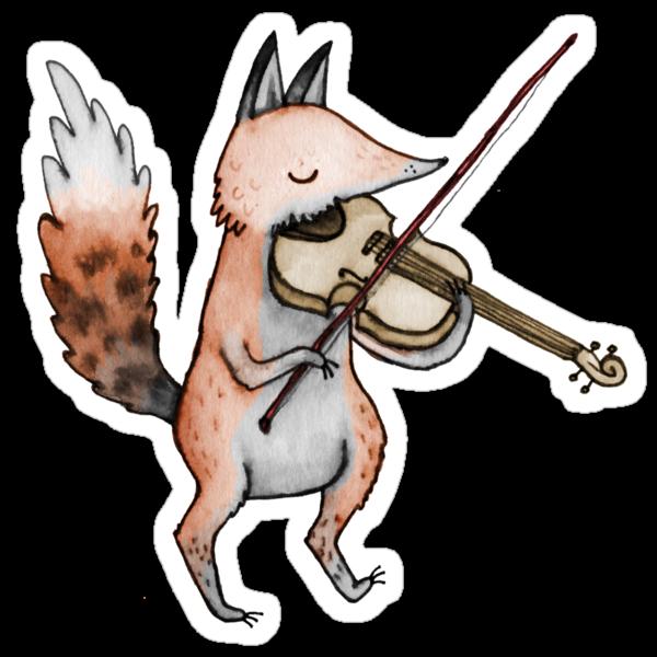 Violin Fox by Sophie Corrigan