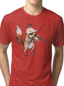 Violin Fox Tri-blend T-Shirt