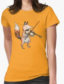Violin Fox Womens Fitted T-Shirt