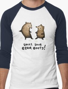 Bear Booty Dance Men's Baseball ¾ T-Shirt