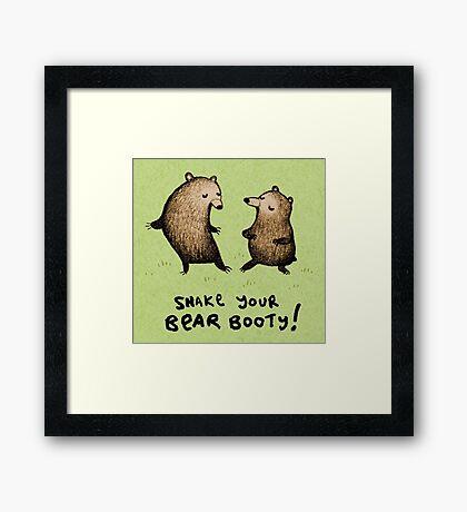 Bear Booty Dance Framed Print