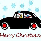 Santa Beetle by Sharon Poulton