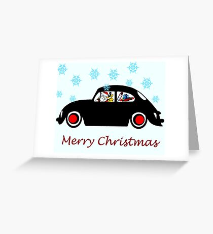 Santa Beetle Greeting Card
