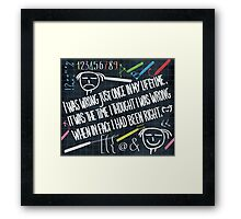 my personal quote Framed Print