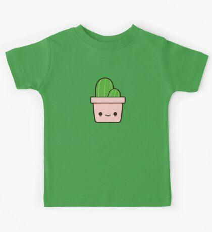 Cactus in cute pot Kids Tee