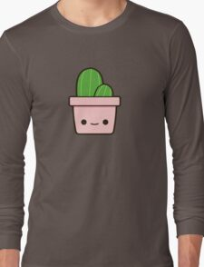 Cactus in cute pot Long Sleeve T-Shirt