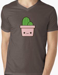 Cactus in cute pot Mens V-Neck T-Shirt
