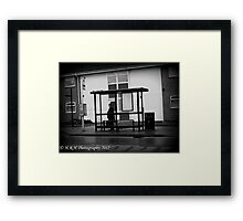 Waiting for my sweetheart Framed Print
