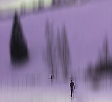 Winter Walk (violet), Fischbacher Alps, Austria by KUJO-Photo