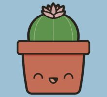 Cactus with flower in cute pot Kids Clothes