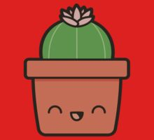 Cactus with flower in cute pot Kids Tee