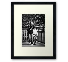 Big Sister leads the way Framed Print