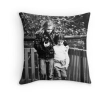 Big Sister leads the way Throw Pillow