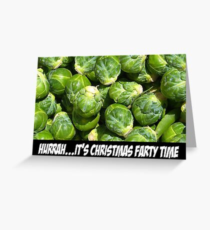 Spoof Christmas party Greeting Card