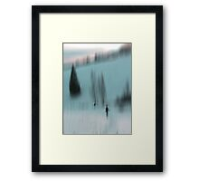 Winter Walk (blue), Fischbacher Alps, Austria Framed Print