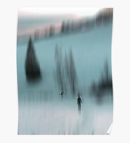 Winter Walk (blue), Fischbacher Alps, Austria Poster
