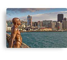 Wellington Man - Solace Of The Wind Sculpture Canvas Print