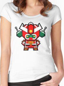 Mekkachibi Mekanda Robo Women's Fitted Scoop T-Shirt