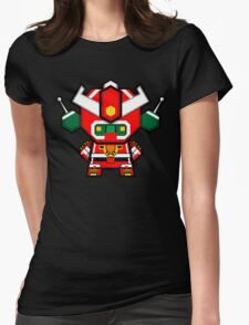 Mekkachibi Mekanda Robo Womens Fitted T-Shirt