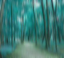 Forrest in Motion, Moscow (turquoise) by KUJO-Photo