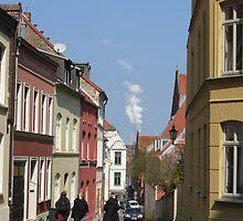 Street Scene, Wismar, Germany by thewinternet