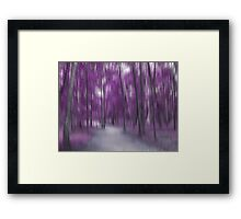 Forrest in Motion, Moscow (purple) Framed Print