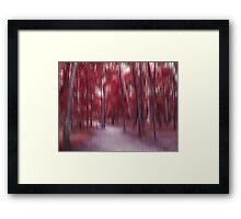 Forrest in Motion, Moscow (red) Framed Print