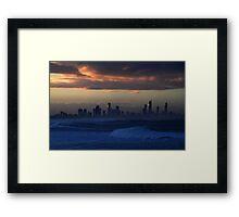 Surfers Gold Framed Print