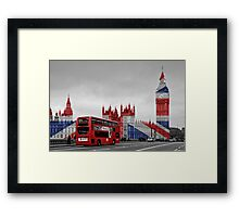 Big Ben and Union Jack Framed Print