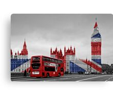 Big Ben and Union Jack Canvas Print